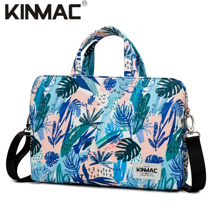 Kinmac Sea Grass 360° Protective Laptop Hand Bag Case with Handle and Detachable Shoulder