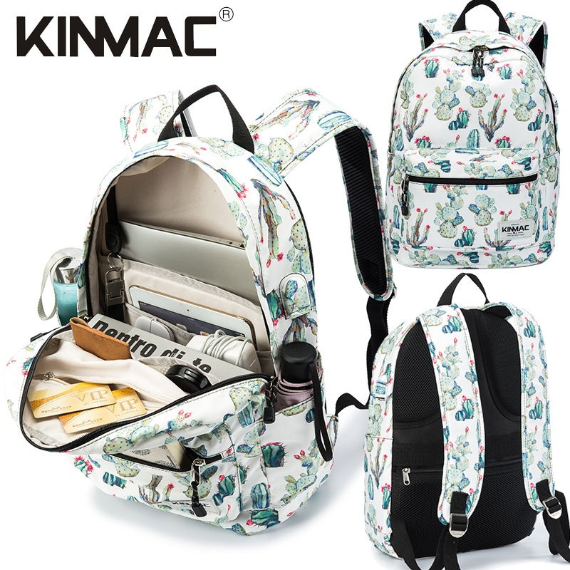 Kinmac Cactus Waterproof  Laptop Backpack Travel School Business Bag