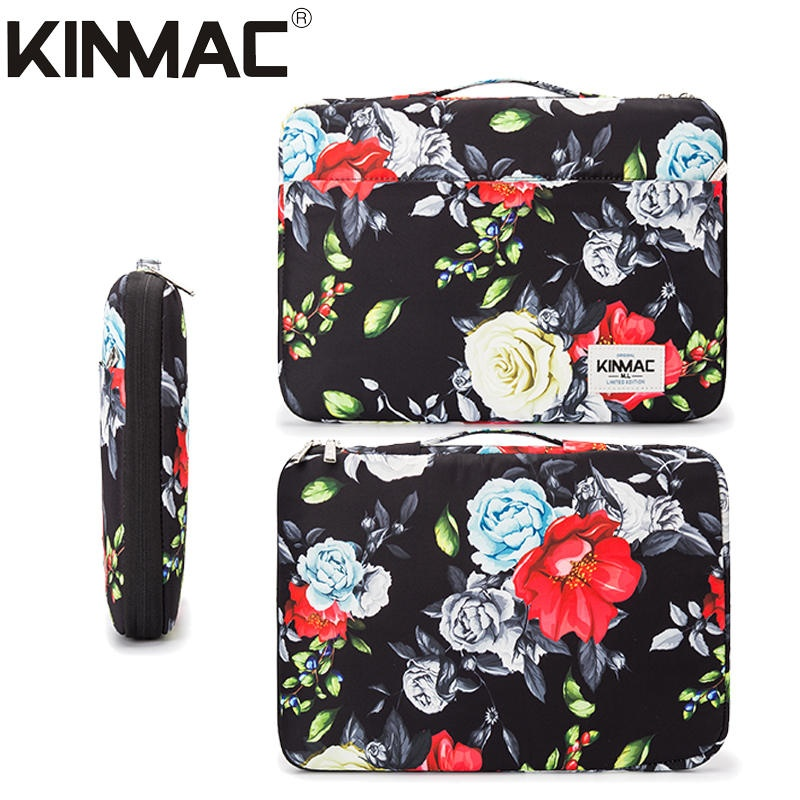 Kinmac Colorful Rose 360° Protective Laptop Sleeve Bag Case