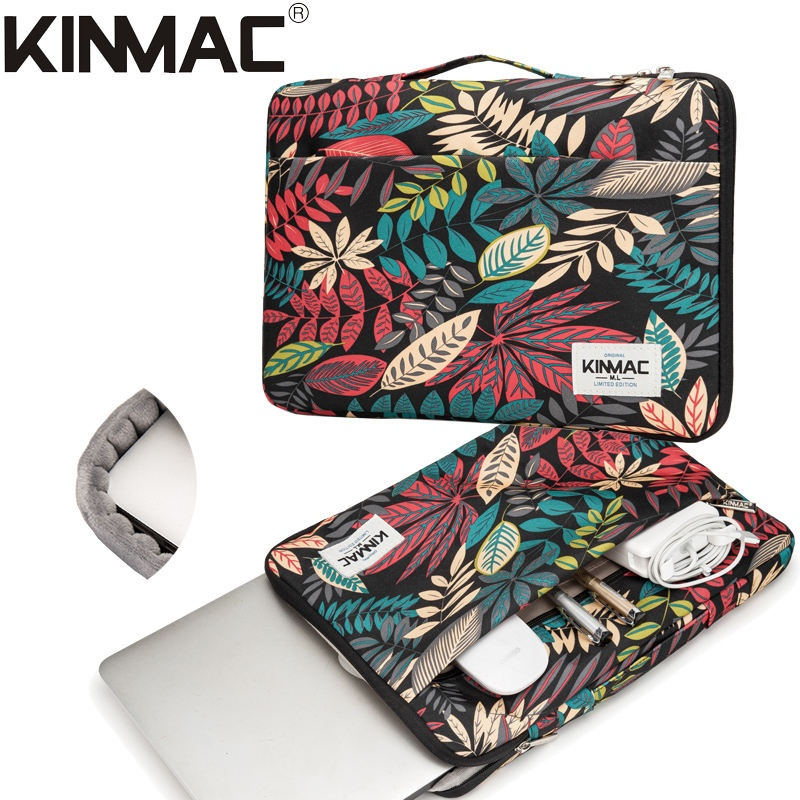 Kinmac Black Maple 360° Protective Laptop Sleeve Bag Case