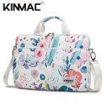 Kinmac Flowers 360° Protective Laptop Sleeve Bag Case with Handle and Detachable Shoulder
