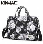 Kinmac Grey Rose 360° Protective Laptop Hand Bag Case with Handle and Detachable Shoulder