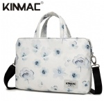 Kinmac Chinese Ink Flower 360° Protective Laptop Hand Bag Case with Handle and Detachable Shoulder