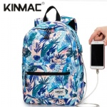 Kinmac Sea Grass Waterproof  Laptop Backpack Travel School Business Bag