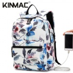 Kinmac Watercolor Waterproof  Laptop Backpack Travel School Business Bag