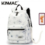 Kinmac Chinese Ink Flower Waterproof  Laptop Backpack Travel School Business Bag