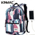 Kinmac Graffiti Waterproof  Laptop Backpack Travel School Business Bag