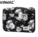 Kinmac Grey Rose 360° Protective Laptop Sleeve Bag Case