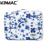 Kinmac Blue Plum Blossom 360° Protective Laptop Sleeve Bag Case