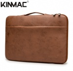 Kinmac Brown Leather 360° Protective Laptop Sleeve Bag Case