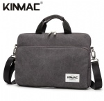 Kinmac Grey 360° Protective Laptop Sleeve Bag Case with Handle and Detachable Shoulder